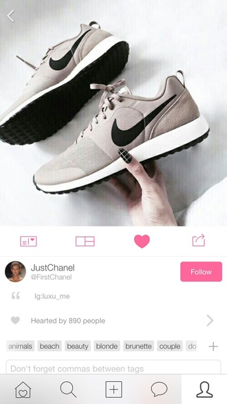 shoes nike grey sneakers low top sneakers