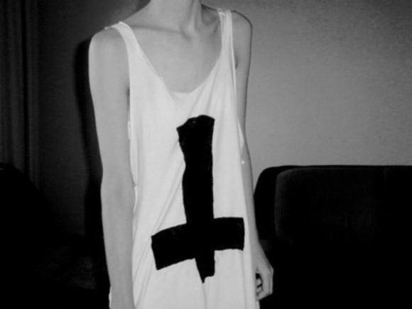 top large large cutout black cross