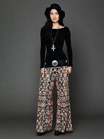 Printed knit wideleg at free people clothing boutique