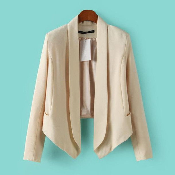 29d685d51267 jacket chic elegant style blazer beige jacket nude office outfits office  outfits going out outfits clothes