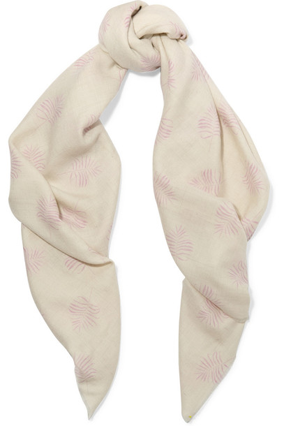 The Elder Statesman scarf cream
