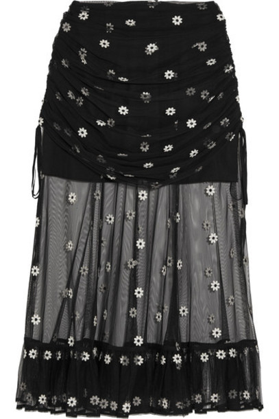 Alice McCall skirt tulle skirt embroidered lady black