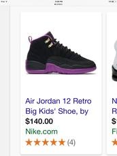 shoes,purple,jordan's shoes,jordans