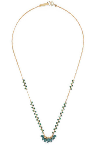 beaded necklace gold jewels