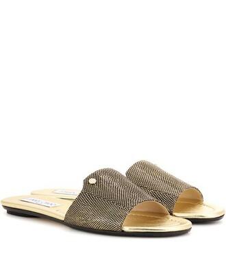 metallic sandals gold shoes