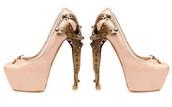 pumps,pink,ballerina,alexander mcqueen,metal heel,high heels,pink shoes,brown shoes,shoes