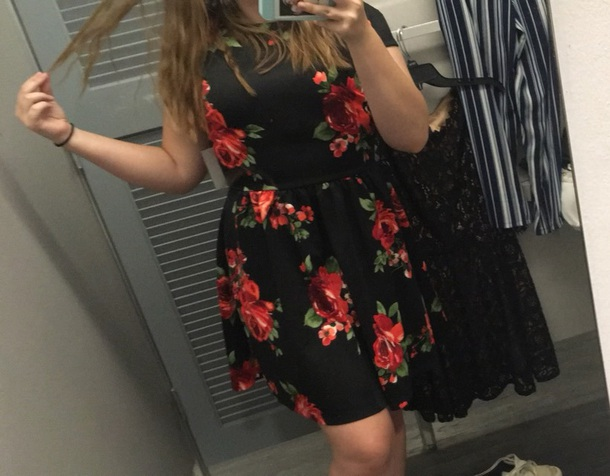 dress macys red black rose pattern red and black roses homecoming dress homecoming