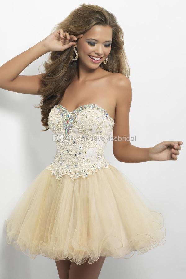Discount 2014 New Sweetheart Crystal Lace Homecoming Dresses Sequin Beads Sleeveless Backless Short Graduation Gown Party Cocktail Dress Cheap Online with $78.54/Piece | DHgate