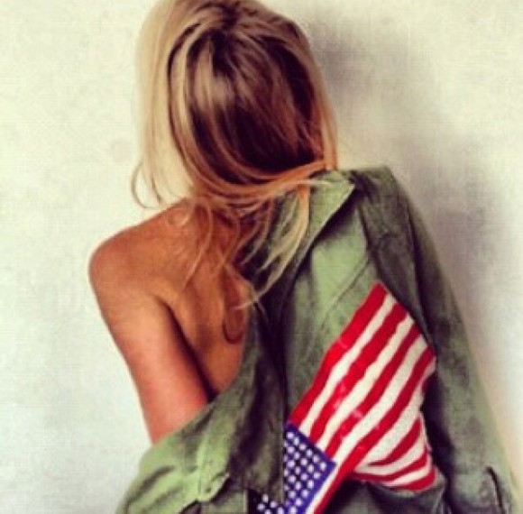 american flag jacket green jacket