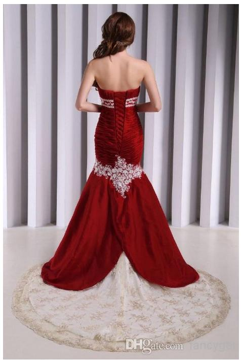 Wholesale Evening Gowns - Buy Vogue Stain Strapless Mermaid Wedding ...