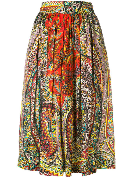 skirt patterned skirt women silk