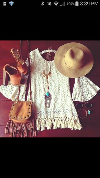 dress hat necklace shoes bag