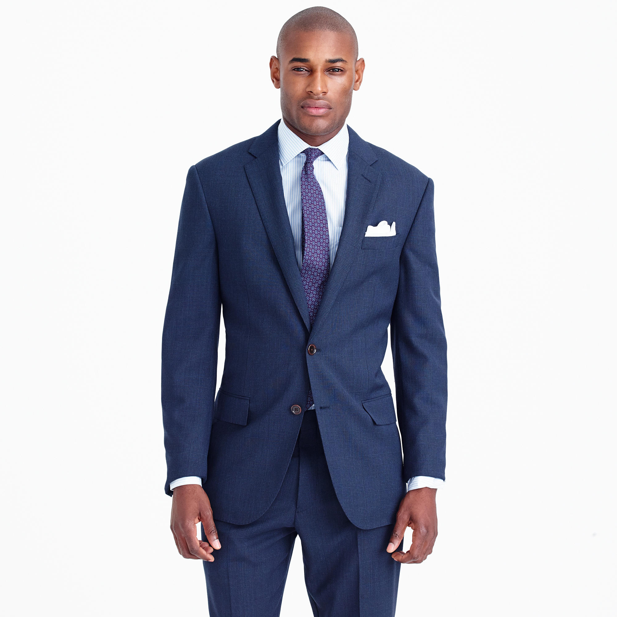 traveler suit jacket in glen plaid Italian wool - Traveler Suits ...