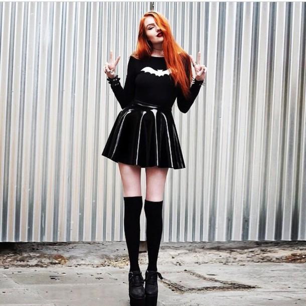 skirt style black dress sweater