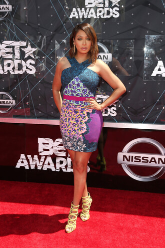 dress sandals la la anthony bet awards summer dress