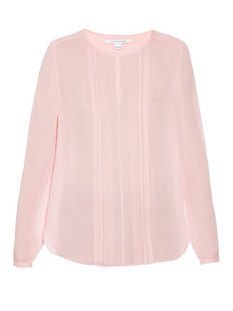 blouse light pink light pink top