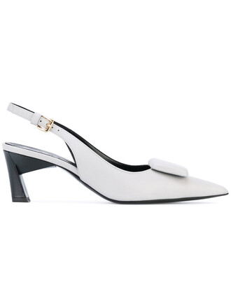 women sandals leather grey shoes