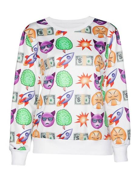 sweater clothes wsdear emoji print t-shirt shirt sweart funny emoji print