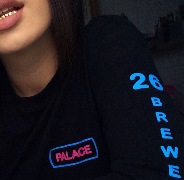 shirt longsleeve shirt long sleeves dope instagram tumblr blue pink tumblr girl tumblr shirt awesome shirt pretty swag sweater black cyber ghetto palace sweatshirt tumblr outfit grillz gold grillz brew