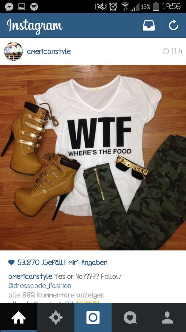 t-shirt wtf wheres the food shirt