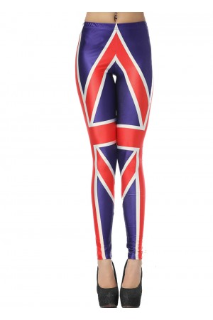 Prevalent union jack flag print leggings