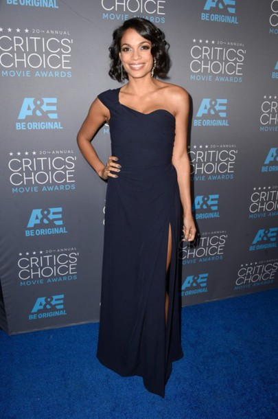 dress rosario dawson people's choice awards one shoulder vivienne westwood gown