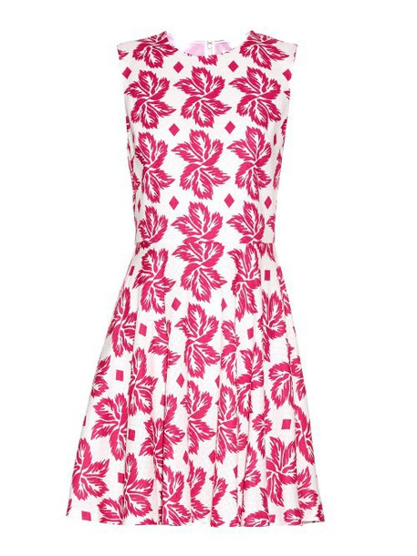 Diane Von Furstenberg dress white pink