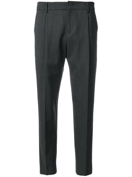 PT01 women spandex wool grey pants