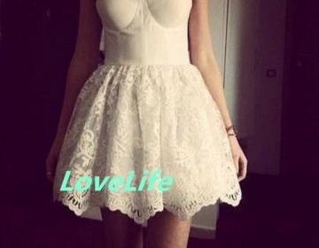 Super cute mini lace ball gown core..