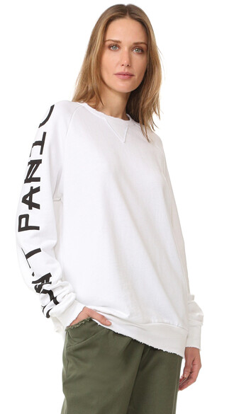 sweatshirt long pearl sweater