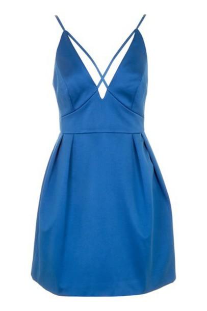 dress prom dress cross mini blue