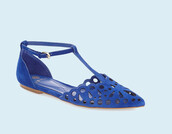 shoes,electric blue,blue shoes,scalopped,scalloped shoes,flats,pointed flats
