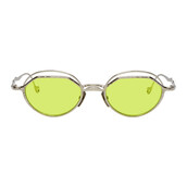 sunglasses,silver,green