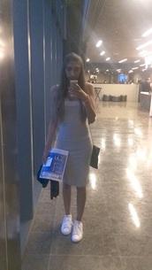 dress,long dress,grey dress,evening outfits