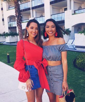 hapa time blogger top skirt jewels bag