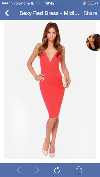 bandage dress dress bodycon dress low neck red dress red