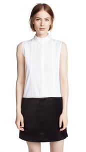 dress,shirt dress,white,black