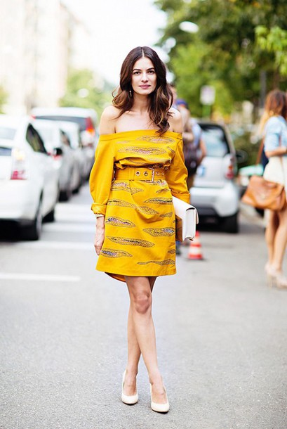 d4debbbcc7f5 dress bardot dress yellow dress mini dress short dress off the shoulder off  the shoulder dress