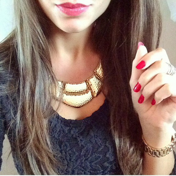 jewels watch necklace gold gold necklace chic gold watch cute