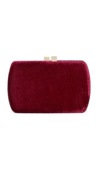 clutch velvet burgundy bag