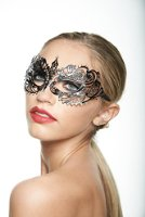 Amazon.com: Beautiful Butterfly Black Masquerade Mask (Clear Rhinestones; One Size Fits All): Clothing
