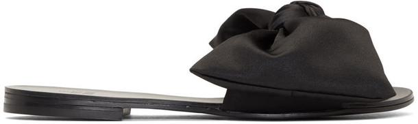 Le Petit Trou bow black shoes