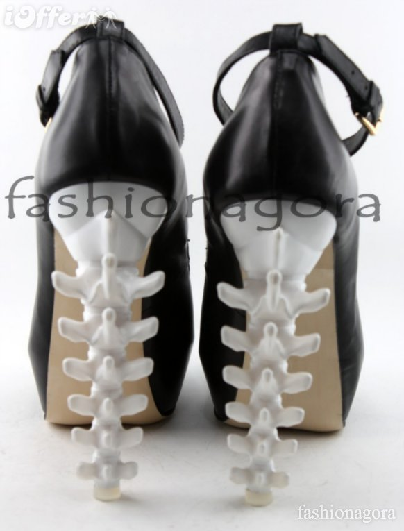 Dsquared2 inspired nappa spine heels ankle strap 35