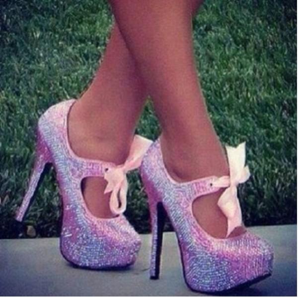 shoes hat cute pink violet high heels ariana grande