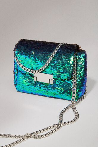 bag clutch sequins green blue multi multicolor greenbluesequin