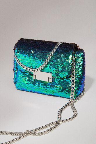 bag clutch sequin green blue multi multicolor greenbluesequin