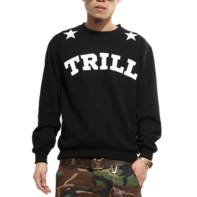 "Amazon.com: zero quality men's hip hop stars ""23"" trill sweater shirts: clothing"
