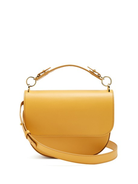 Sophie Hulme bow cross bag leather tan light