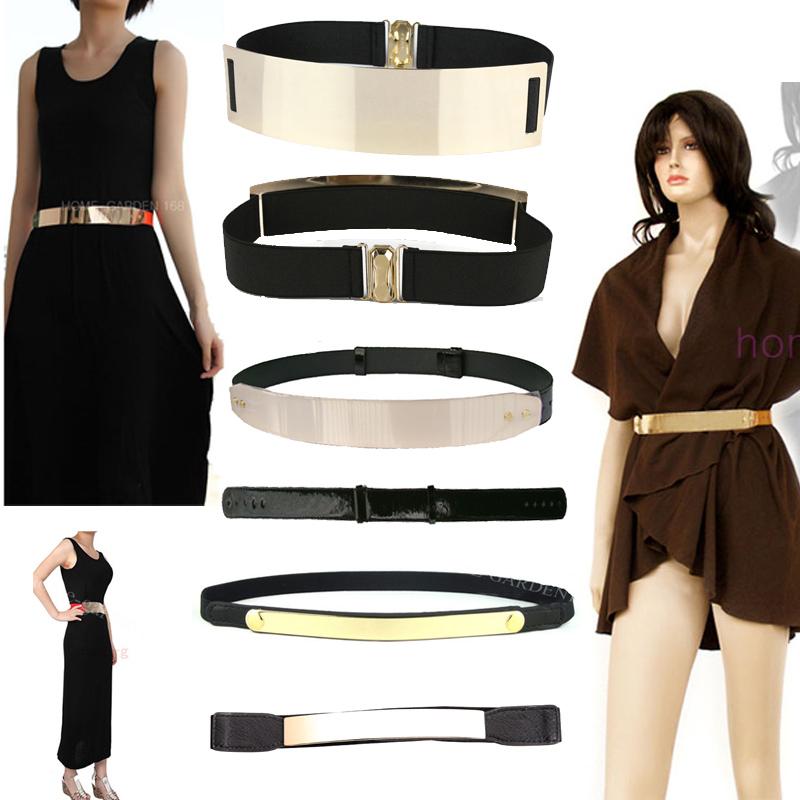 Exalted Black Women Metallic Plate Bling Gold Metal Mirror Shiny Waist Belt   eBay
