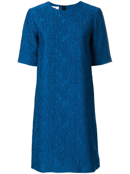 MARNI dress shift dress women blue silk